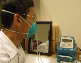 benchmark test with 3M displosable respirator