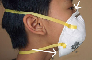 normal N95 mask does not fit children