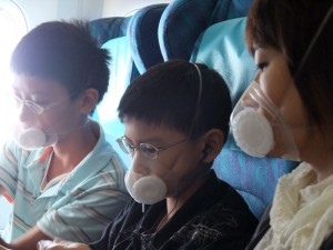 using Totobobo mask for air travel