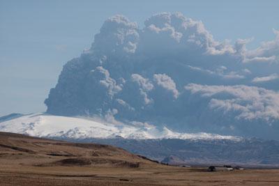 Eyjafjallajokull volcano Plume