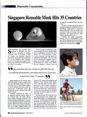 Totobobo featured in Medical Products Asia