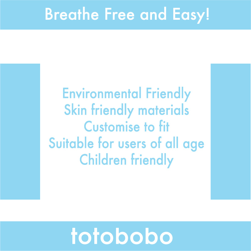 Totobobo mask, environmental friendly, skin friendly, customizable, suitable for all ages, children friendly, get Totobobo mask now.