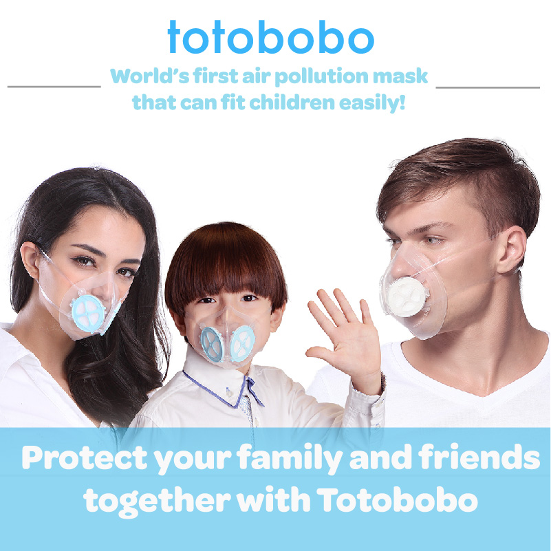 Air pollution mask that can fit children easily, protect your family and friends.
