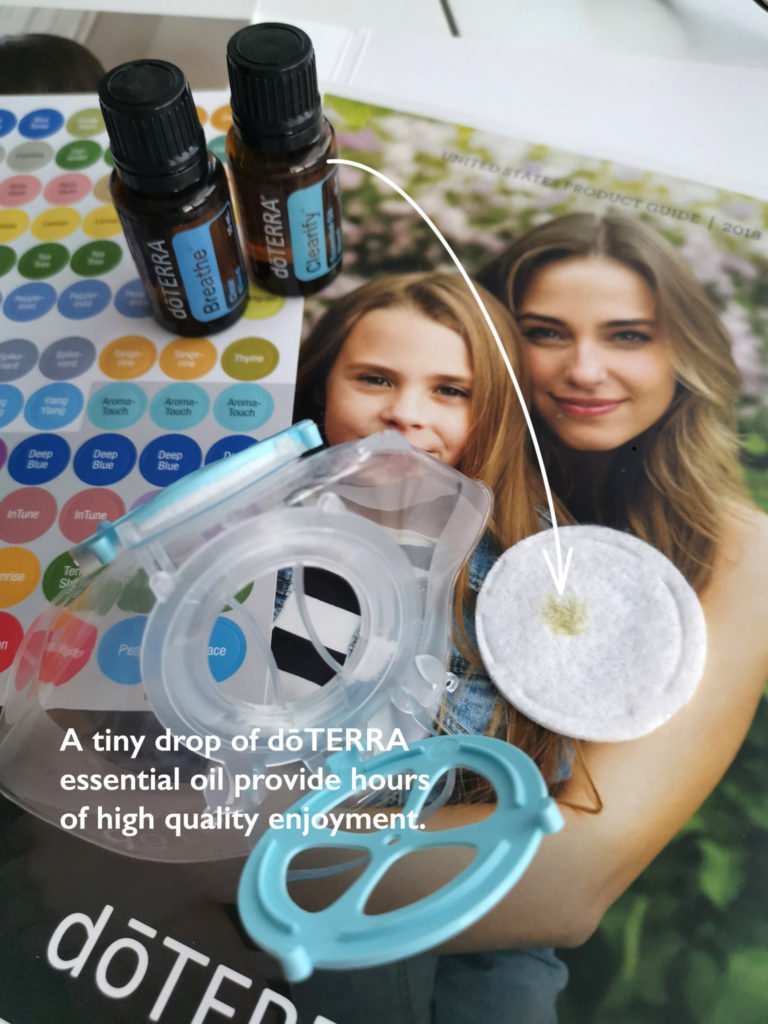 doTERRA essential oil combines with Totobobo mask