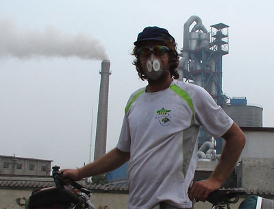pollution outside of Beijing