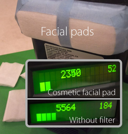 Facial pads test