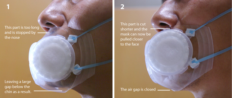 How to adjust the SuperCool mask to suit your face size?