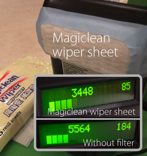 Magiclean dry wiper sheet test